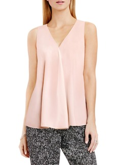 Vince Camuto Drape Front V-Neck Sleeveless Blouse (Regular & Petite)