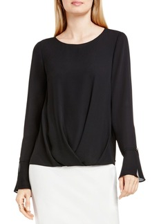 VINCE CAMUTO Draped Faux Wrap Top