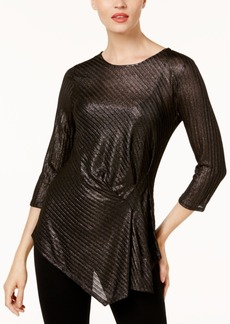 Vince Camuto Draped Metallic Top