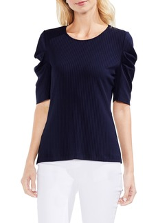 Vince Camuto Draped Sleeve Ribbed Tee
