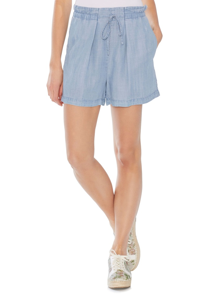 Vince Camuto Drawstring Chambray Shorts