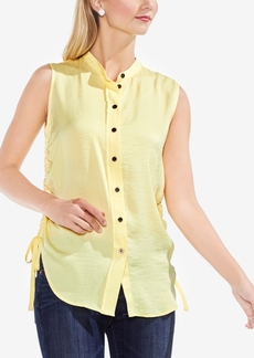 Vince Camuto Drawstring-Side Button-Front Shirt