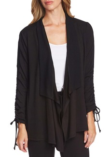 Vince Camuto Drawstring Sleeve Cardigan
