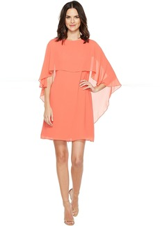 Vince Camuto Dress with Bateau Neckline and Cape Back Overlay
