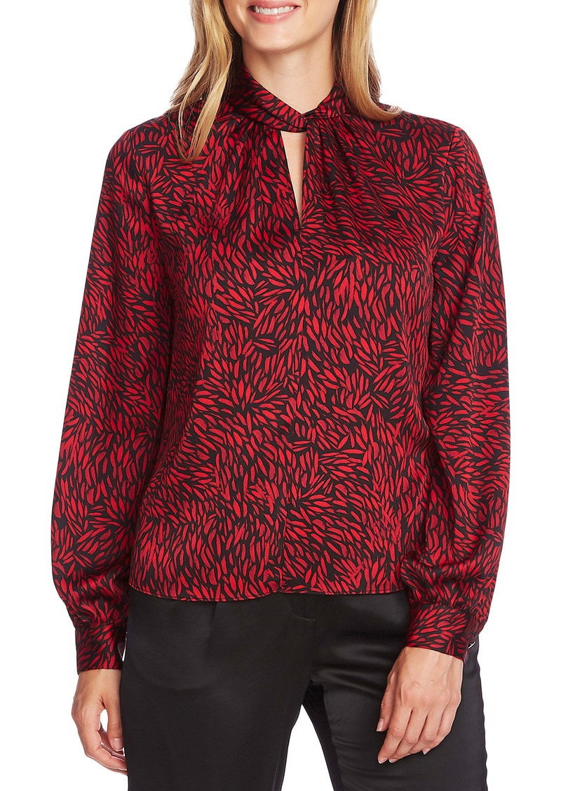 Vince Camuto Drifting Petals Twist Neck Top