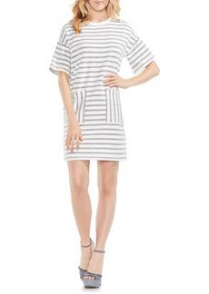 Vince Camuto Drop Shoulder Stripe Shift Dress