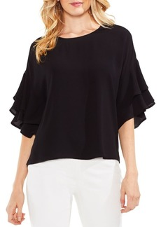 Vince Camuto Drop Shoulder Tiered-Sleeve Blouse