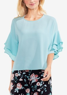 Vince Camuto Drop-Shoulder Tiered-Sleeve Top