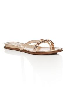 VINCE CAMUTO Eddinal Metallic Embellished Thong Sandals