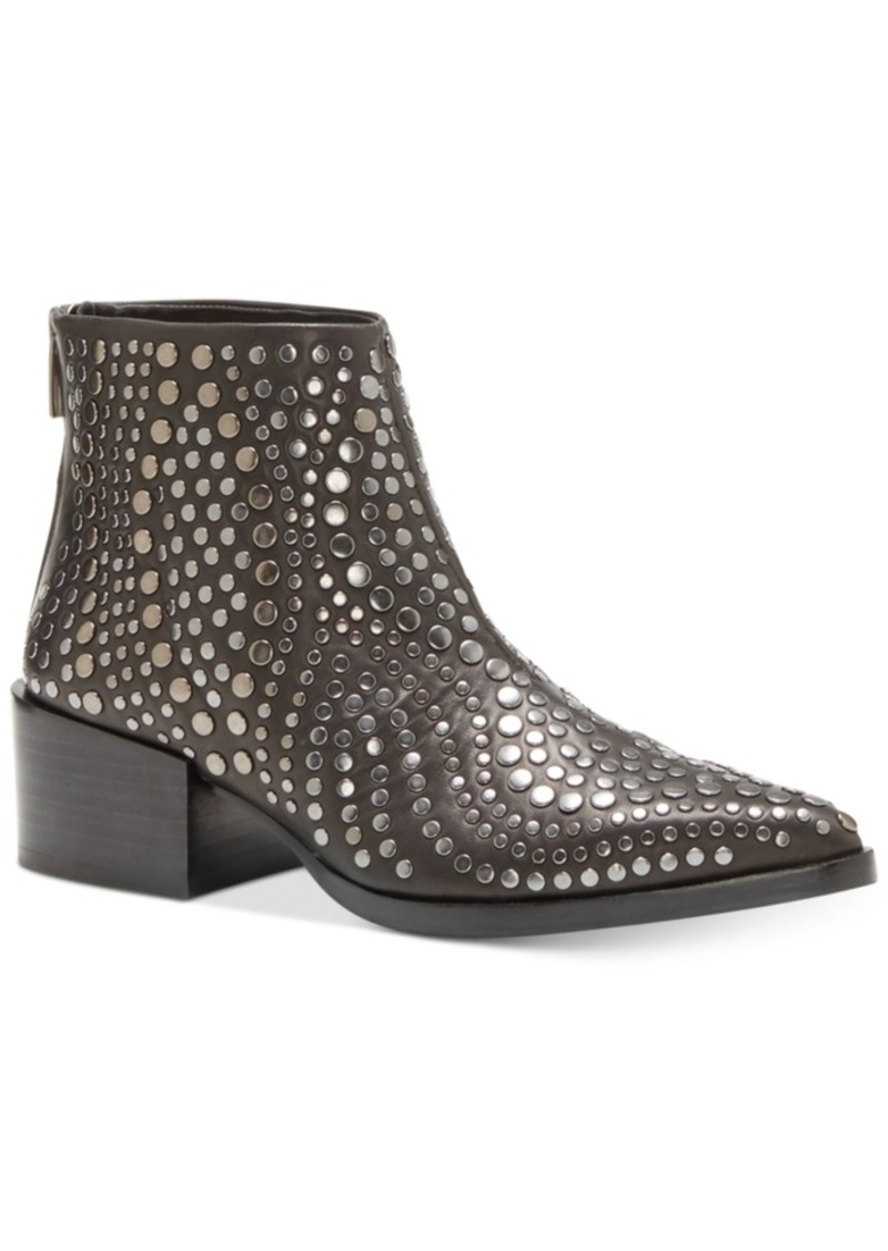 Vince Camuto Edenny Studded Pointed-Toe Booties Women's Shoes