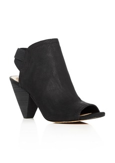 VINCE CAMUTO Edora Open Toe High Booties