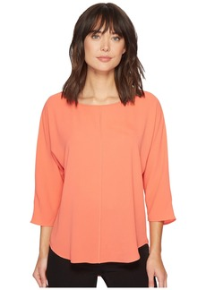 Vince Camuto Elbow Sleeve Chiffon Seam Blouse
