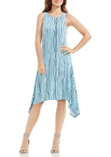 Vince Camuto Electric Lines Handkerchief Hem Dress (Regular & Petite)