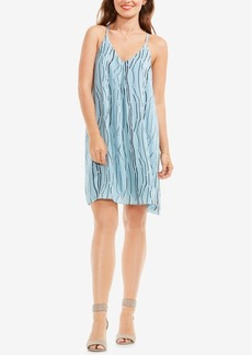 Vince Camuto Electric Lines Printed Slip Dress