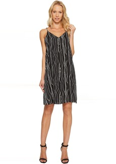 Vince Camuto Electric Lines Tank Dress w/ Invert Pleat