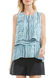 Vince Camuto Electric Lines Tiered Blouse