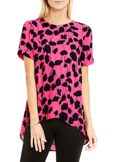 Vince Camuto Elegant Blossom High/Low Blouse