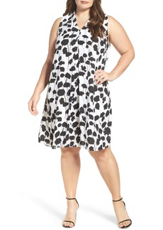 Vince Camuto Elegant Blossom Shift Dress (Plus Size)