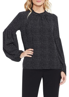 Vince Camuto Elegant Speckles Balloon Sleeve Blouse