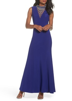 Vince Camuto Embellished A-Line Gown