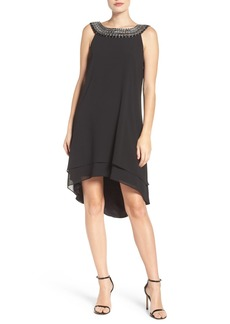 Vince Camuto Embellished Chiffon Swing Dress