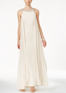 Vince Camuto Embellished Chiffon Trapeze Gown