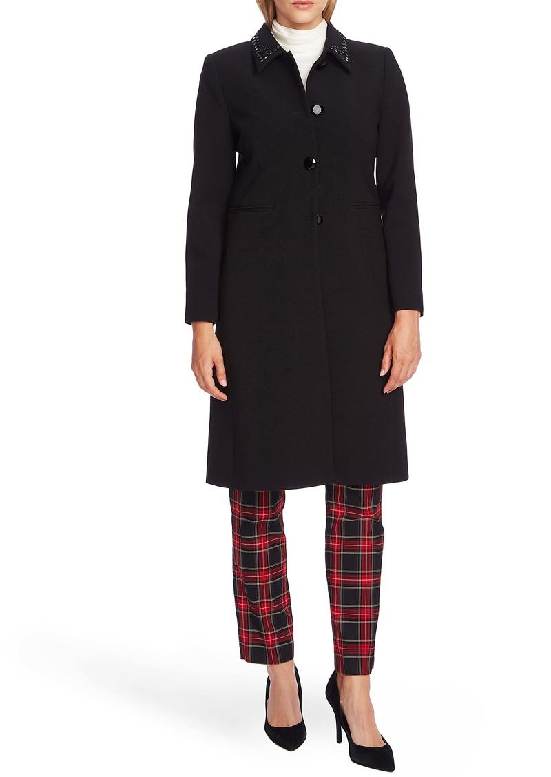 Vince Camuto Embellished Collar Coat