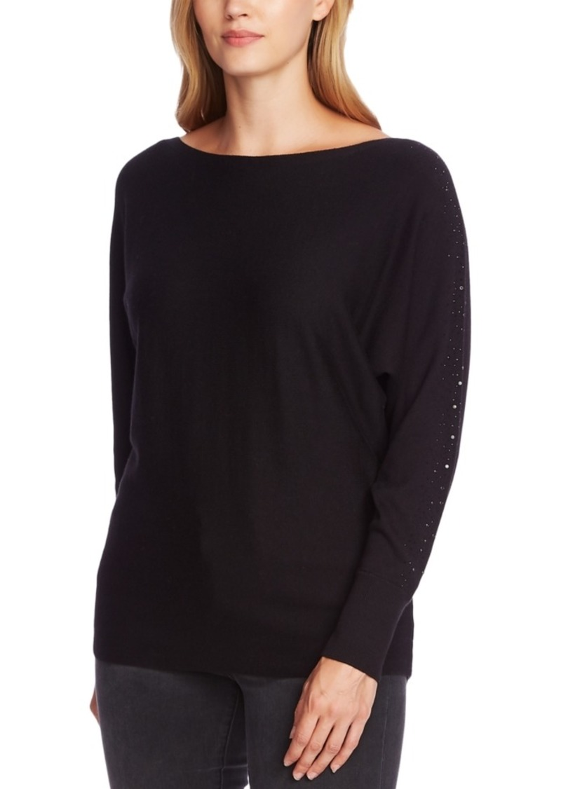Vince Camuto Embellished Dolman-Sleeve Sweater