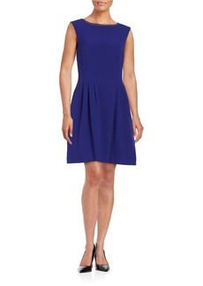 VINCE CAMUTO Embellished Fit-and-Flare Dress