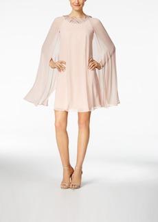 Vince Camuto Embellished Flyaway Cape Dress