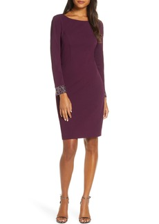 Vince Camuto Embellished Long Sleeve Cocktail Dress