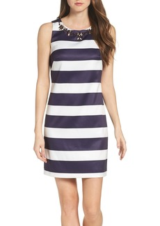 Vince Camuto Embellished Mikado Dress