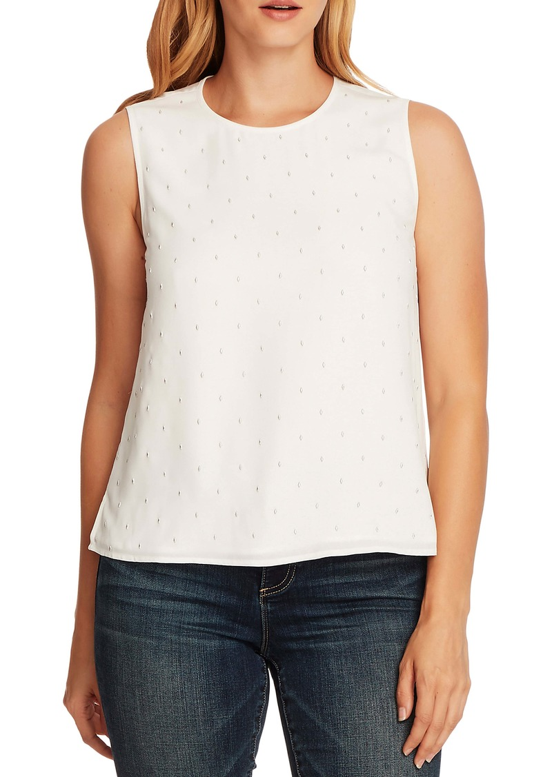 Vince Camuto Embellished Sleeveless Blouse
