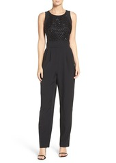 Vince Camuto Embellished Stretch Crepe Jumpsuit