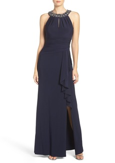 Vince Camuto Embellished Stretch Gown