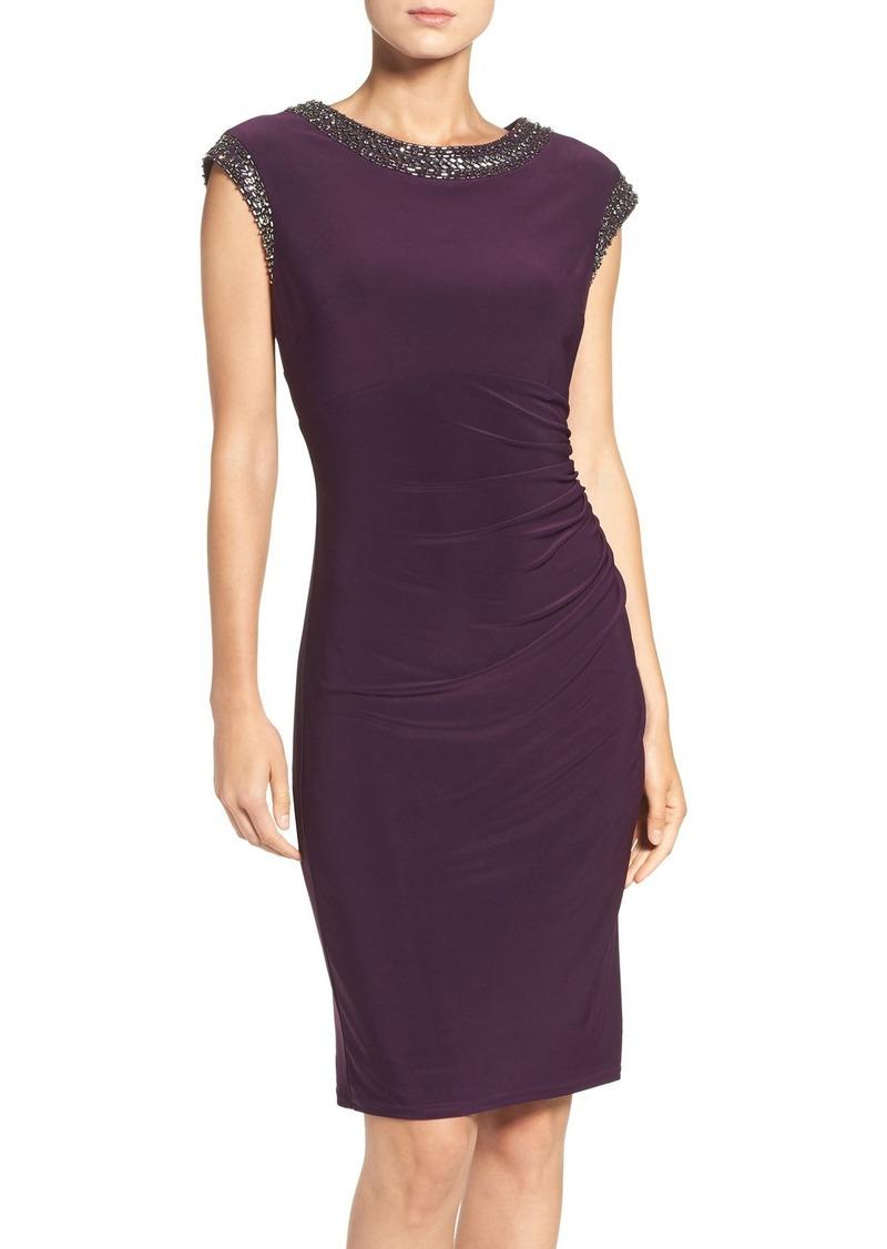Vince Camuto Embellished Stretch Sheath Dress