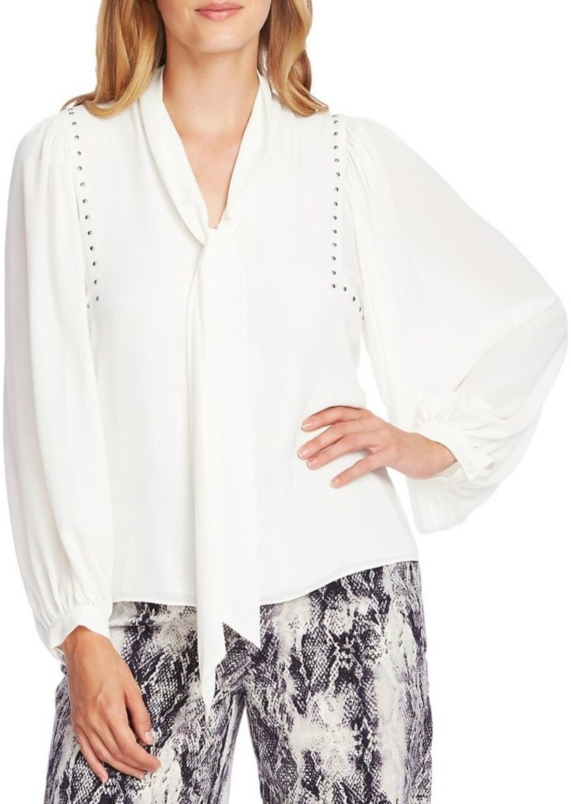 Vince Camuto Embellished Tie-Front Blouse
