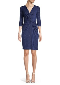 Vince Camuto Embellished Twisted Front Sheath Dress