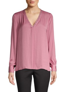 Vince Camuto Embellished V-Neck Blouse