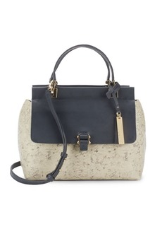 Vince Camuto Embossed Leather Satchel
