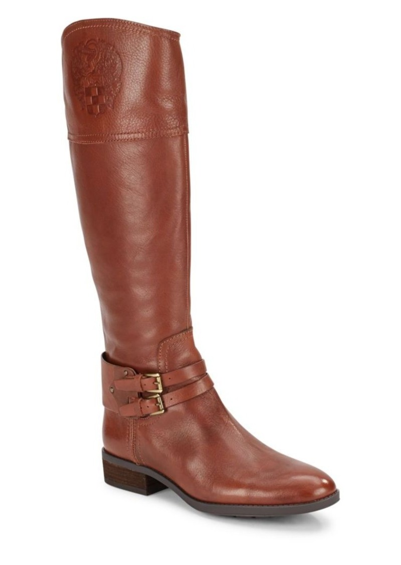 Vince Camuto Embossed Leather Tall Shaft Boots