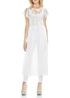 Vince Camuto Embrodidered Mesh Layering Dress