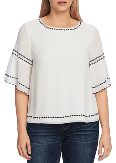 VINCE CAMUTO Embroidered Bell Sleeve Top