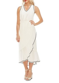 VINCE CAMUTO Embroidered Chiffon Midi Dress