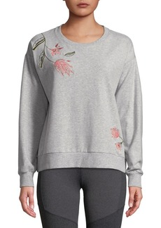 Vince Camuto Embroidered Floral Sweatshirt