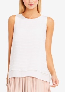 Vince Camuto Embroidered Flyaway Top