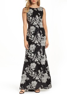 Vince Camuto Embroidered Gown
