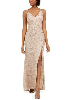 Vince Camuto Embroidered Lace Gown