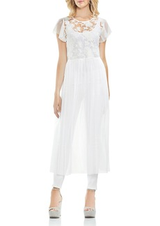 VINCE CAMUTO Embroidered Mesh Long Tunic
