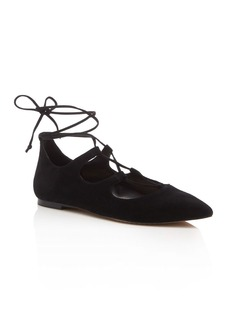 VINCE CAMUTO Emmari Lace Up Pointed Toe Flats